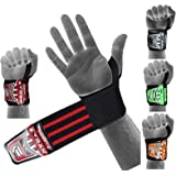 EMRAH HEAVY DUTY Wrist Wraps (PAIR) ''LIMITED DEAL''- Wrist Support Braces for Men & Women - Weight Lifting, Crossfit, Powerlifting, Strength Training