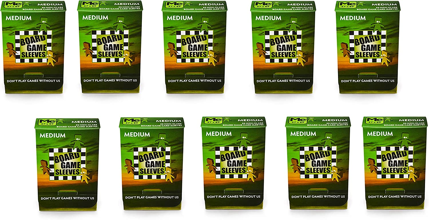 10 Packs Arcane Tinmen Non-Glare Board Game Sleeves 50 ct Medium Size Card Sleeves Display Case 81FjI4A0anL