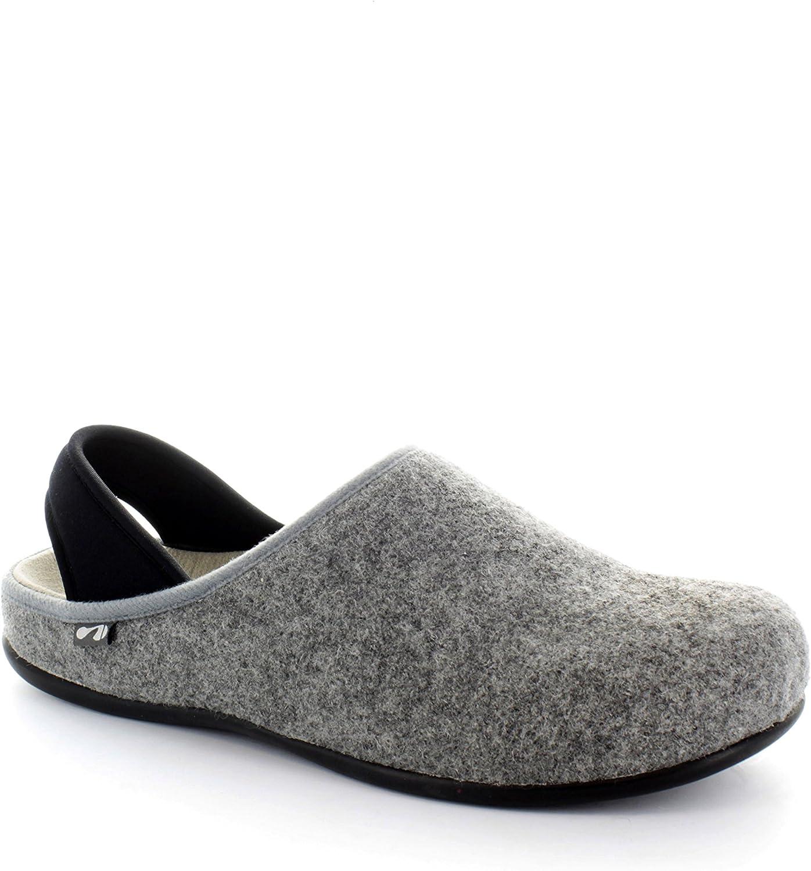 Strive Copenhagen Womens Wool Felt Winter Slippers In Black UK Sizes 3-7