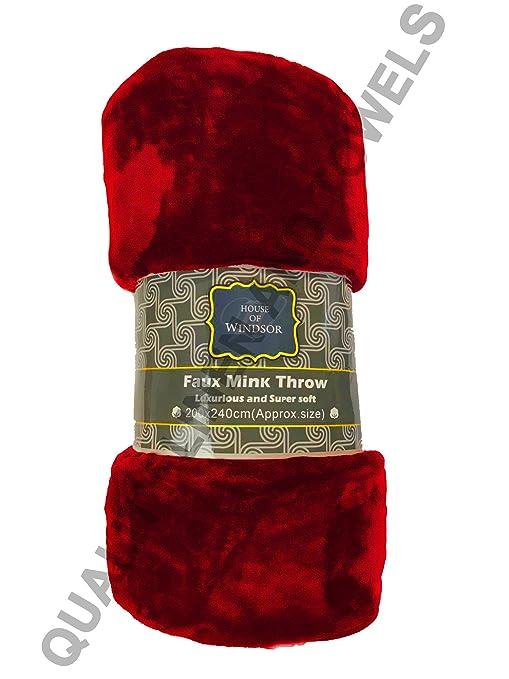 Casa de Windsor piel sintética de lujo suave visón manta ...