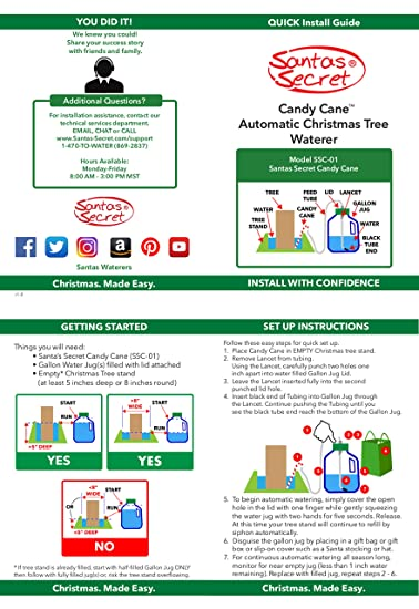 Amazon.com: Santas Secret 2019 Candy - Sistema de riego ...