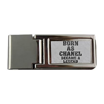 Metal dinero clip con Born como Chanel, se convirtió en una leyenda