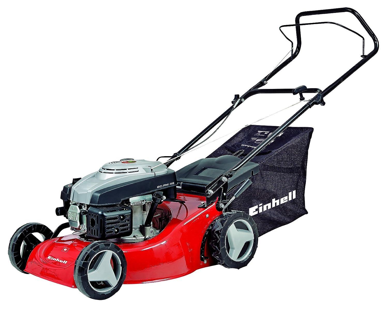 Einhell Benzin Rasenmäher GC-PM 46 (1,9 kW, 139 cm³, 46 cm Schnittbreite, 50 l Fangsack, empfohlen bis 1200 m²)
