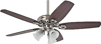 Hunter Fan Builder Plus Ventilador de techo con luz níquel pulido ...