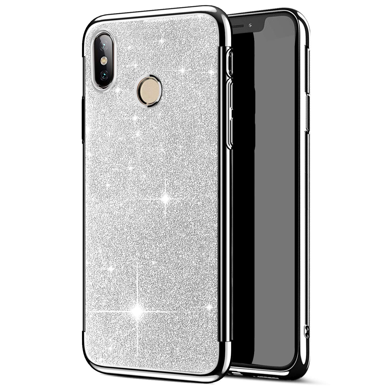 Herbests Coque Xiaomi Mi 6X//Xiaomi Mi A2 Paillette Coque en TPU /électrolytique Paillettes Scintillent Case Cover pour Xiaomi Mi 6X//Xiaomi Mi A2,dor