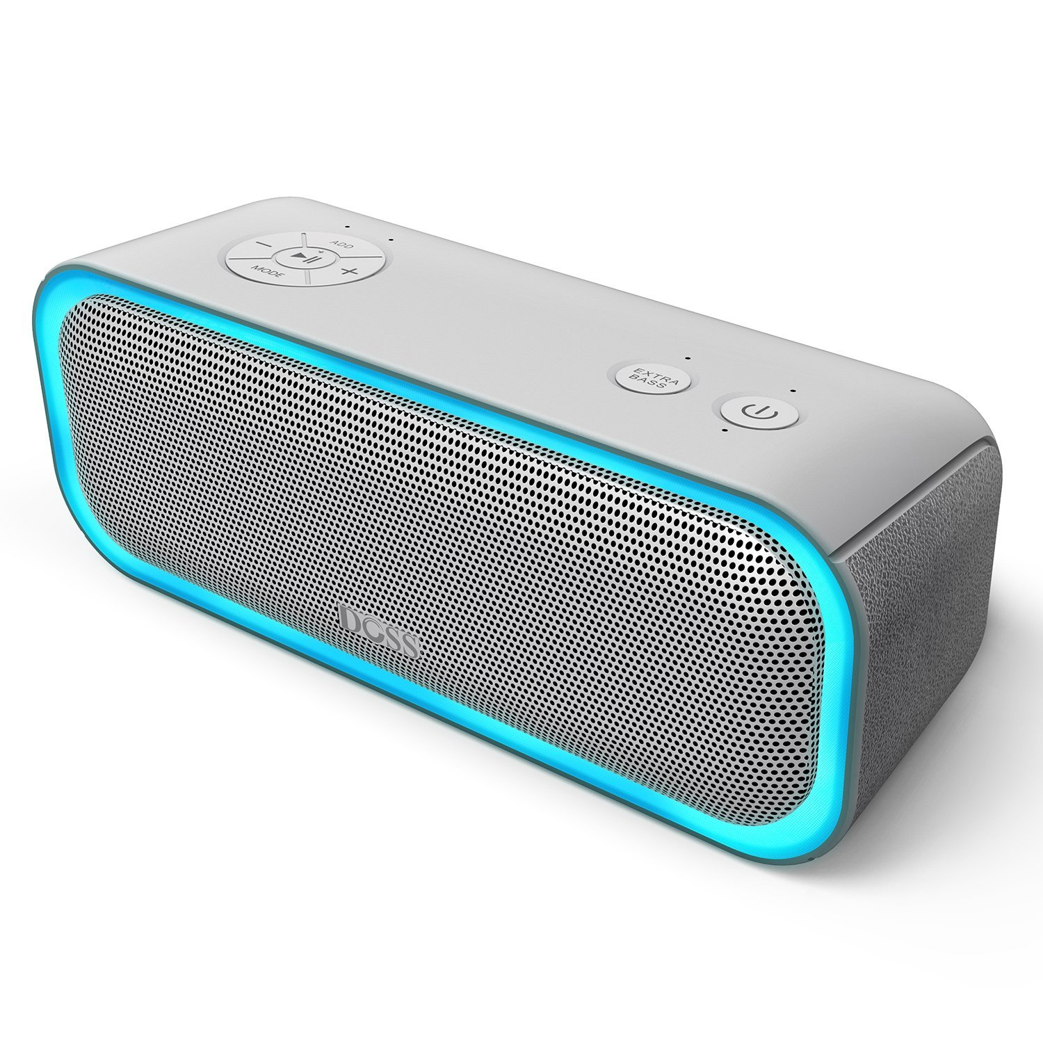 DOSS SoundBox Pro Wireless Bluetooth Speaker, 20W Speaker with Stereo Sound, Enhanced Bass, Stereo Pairing, Multiple LED Light, Long-Lasting Battery Life for iPhone, Samsung, iPad, Echo dot, Good Gif by DOSS