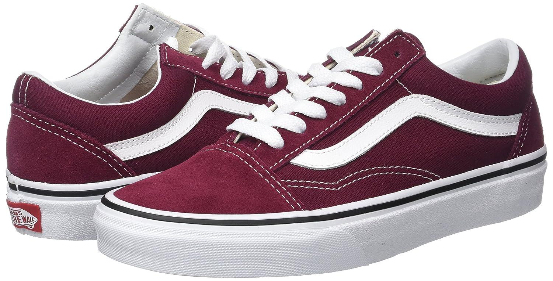 Vans Unisex Old Skool Classic Skate Shoes B06Y6MG2B6 9.5 B(M) US Women / 8 D(M) US Men Burgundy / True White