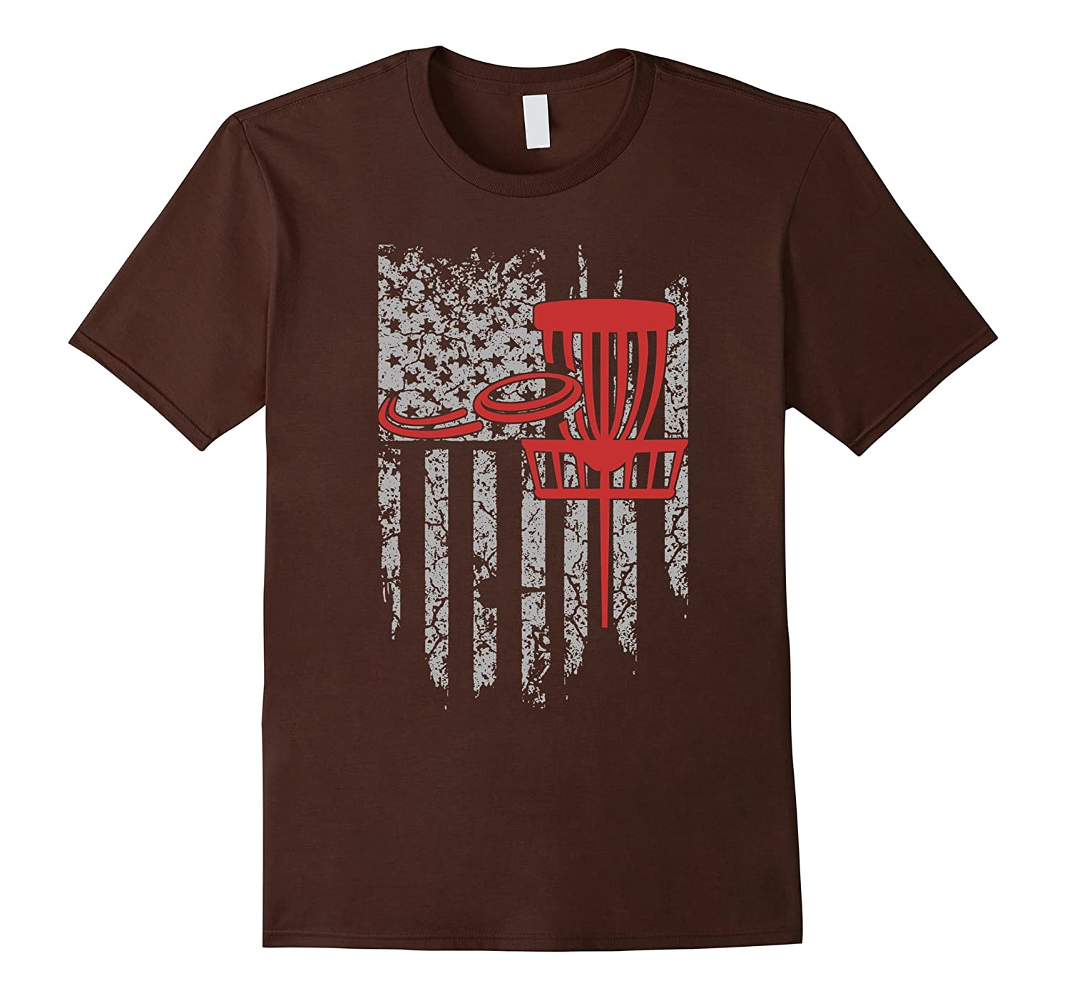 4th of July Disc Golf Flag US T shirt