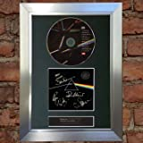 PINK FLOYD Dark Side Of The Moon (VERY RARE) Top Quality Signed Autograph Mounted Cd Album Cover Record Reproduction PRINT A4 Perfect Birthday Christmas Present (297 x 210mm) #60 (Silver Frame)