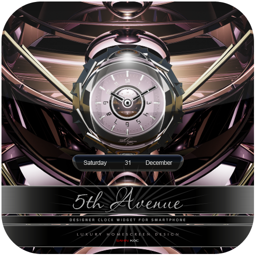 5th Avenue Beautiful Clock Widget Theme for Android