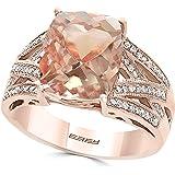 Effy Blush 14K Rose Gold Morganite and Diamond Ring, 4.76 TCW