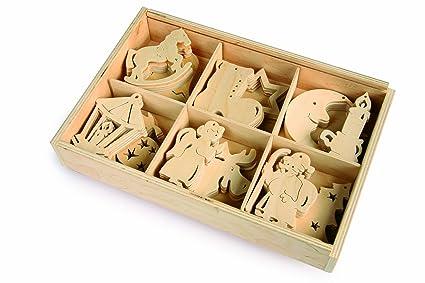 Decorazioni In Legno Natalizie : Deomor pz ciondoli natale legno naturale fette abbellimenti