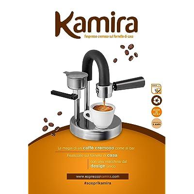 Kamira KAMI-01, cafetière pour l'expresso crémeux sur la cuisinière à la maison sans dosettes ni capsules à café, (1-2 TASSES)