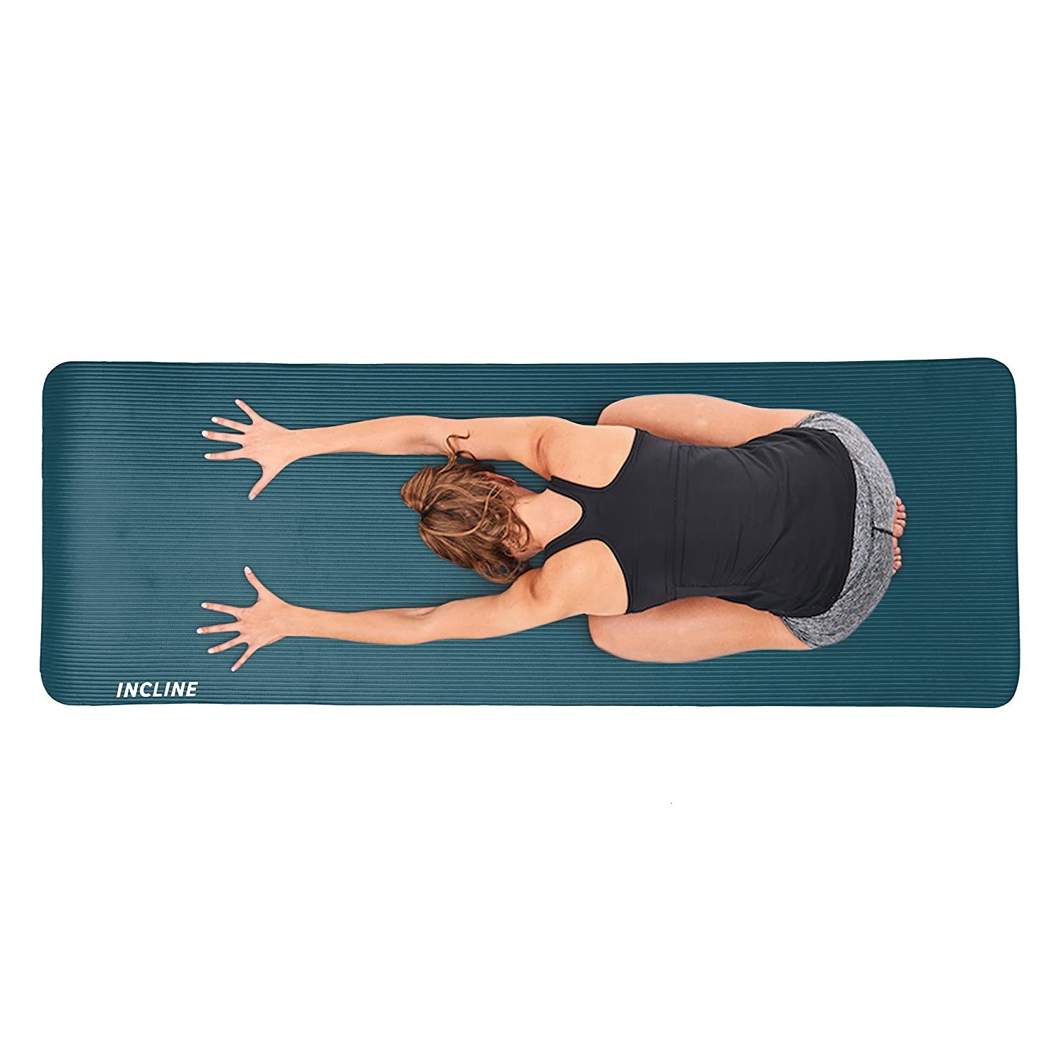 Stretching Floor /& Fitness Exercises Incline Fit Extra Thick Exercise Mat w//Carrying Strap Pilates Meditation Non Slip /& Comfortable Workout Mat for Yoga