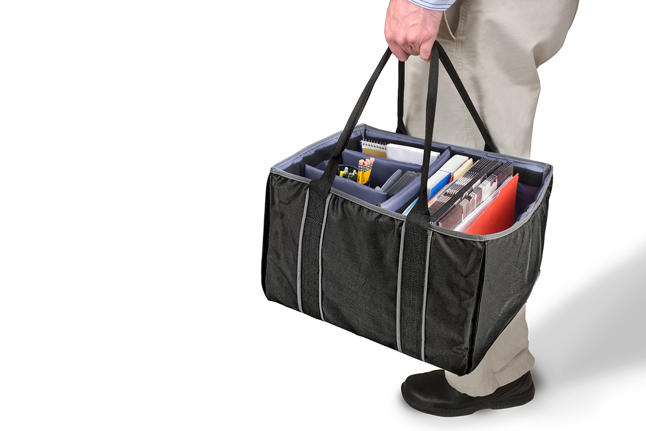 AutoExec AETote-08 Black/Grey File Tote with One Cooler and One Hanging File Holder by AutoExec (Image #13)
