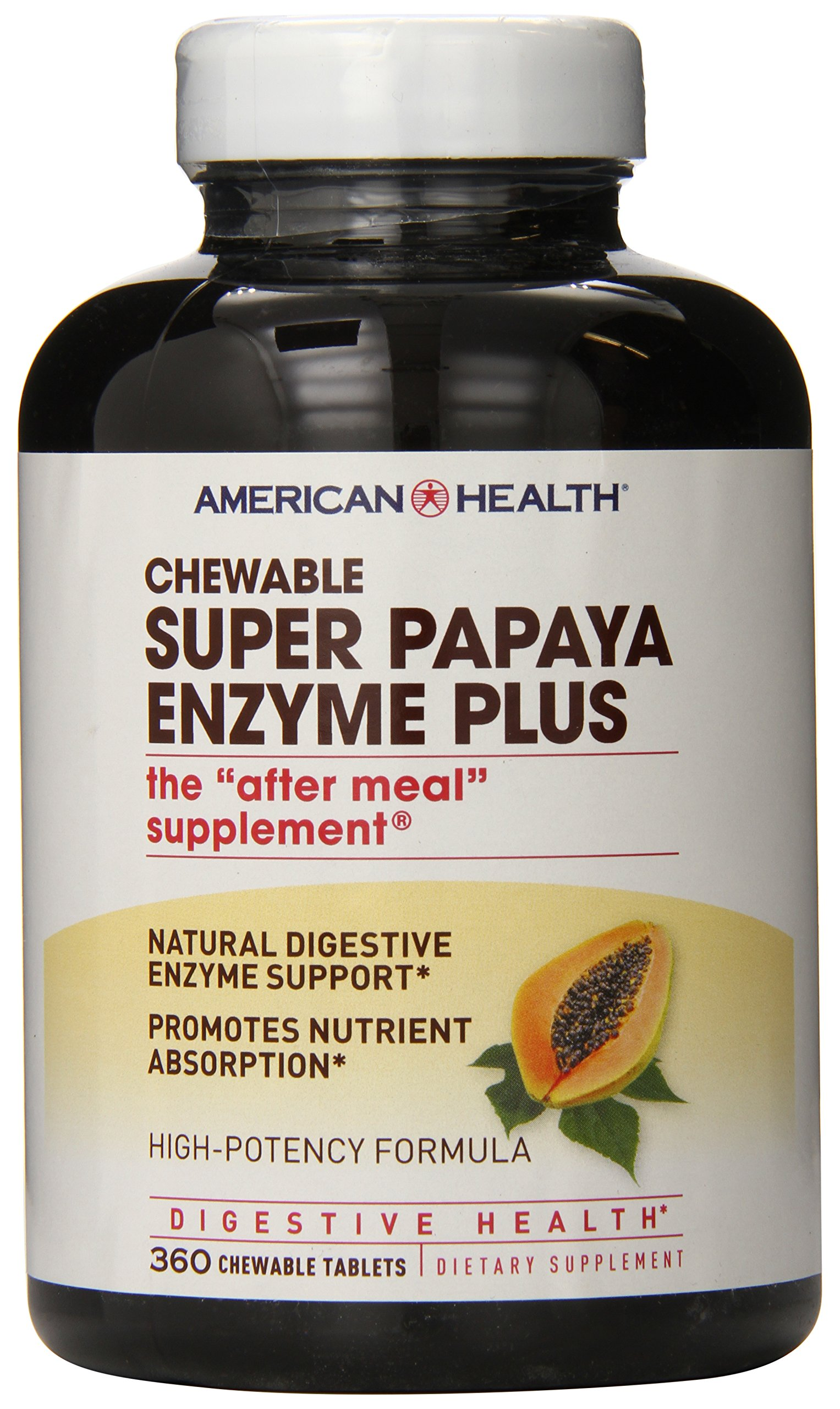 American Health Multi-Enzyme Plus, Super Papaya, 360 Count by American Health