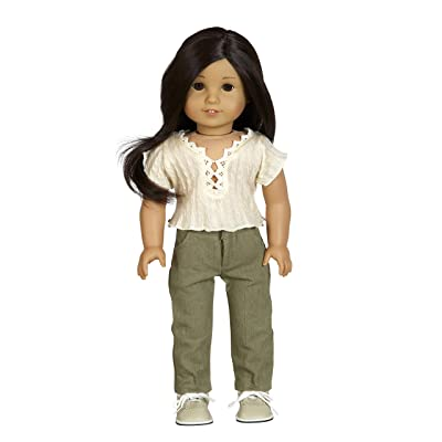 """Diana Collection Beige Knit Top with Olive Pant 