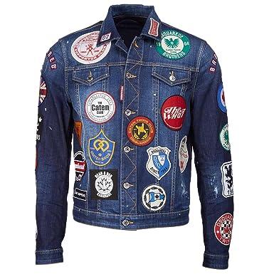 9a14b18a8 Dsquared Patch Denim Jacket Denim 38: Amazon.co.uk: Clothing