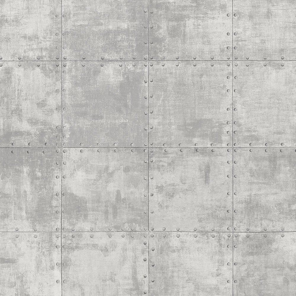 Norwall LL36226 Steel Tile Wallpaper