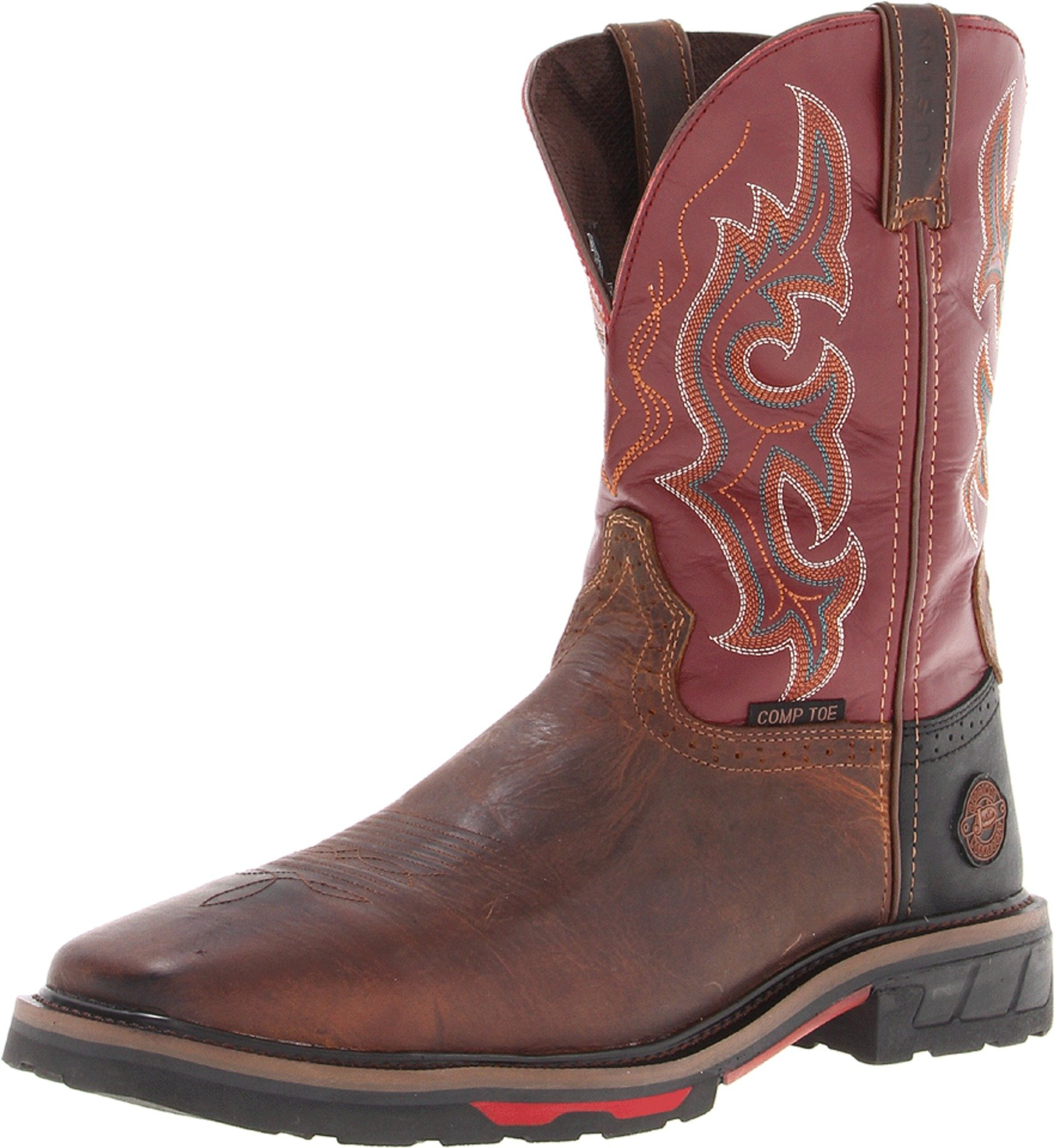 Justin Original Work Boots Men's Hybred Comp Toe Work Boot,Rugged Utah/Red Oiled,9 D US