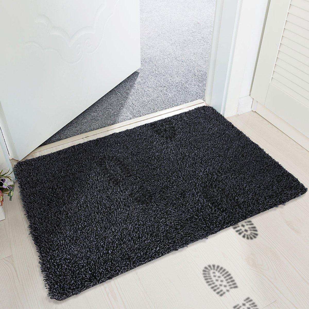 mayshine Non-slip Doormat Cotton Door Mat Mud Dirt Trapper Mats Entrance Rug Shoes Scraper Floor Indoor-45x75cm MS170412