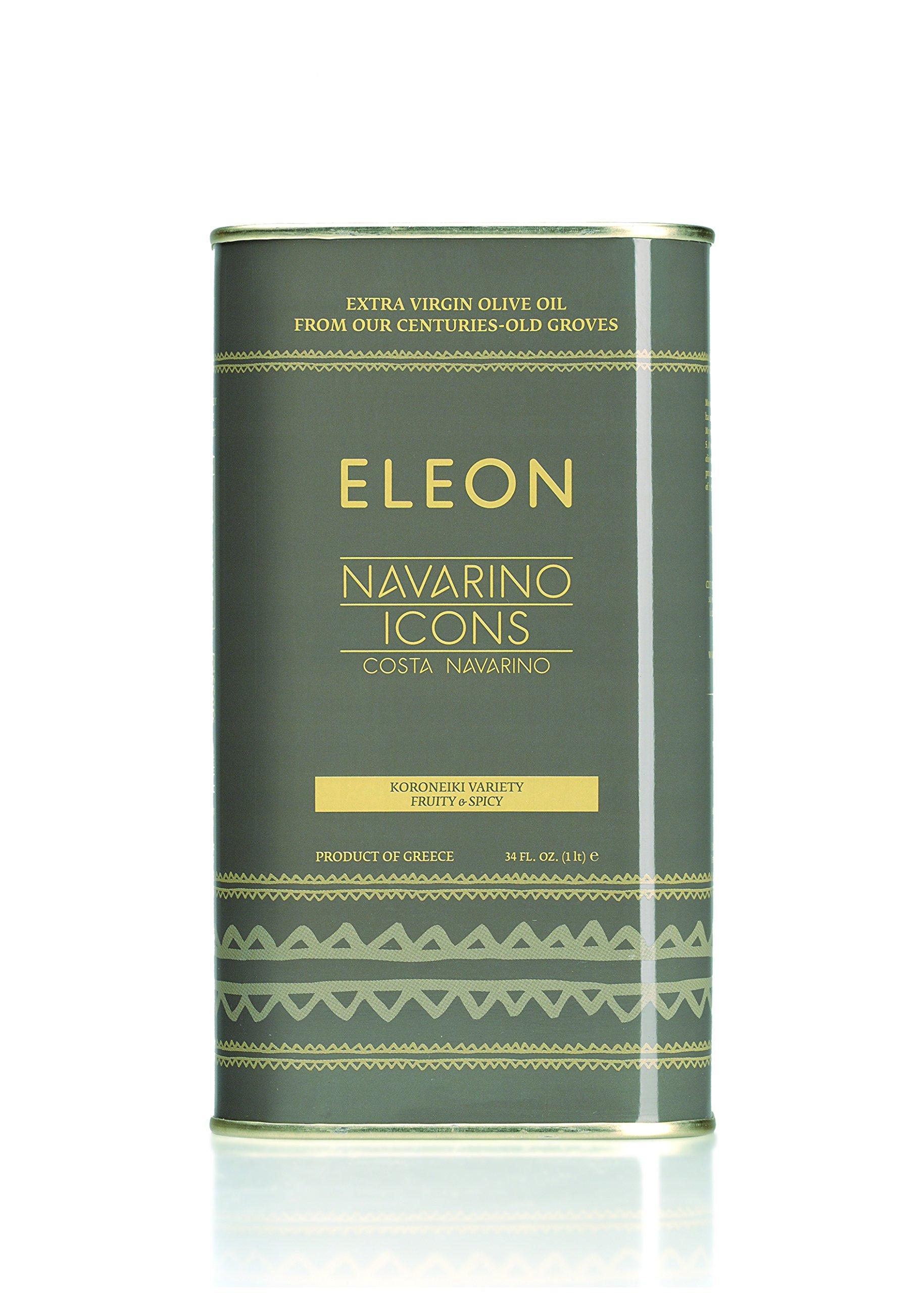NAVARINO ICONS Eleon Greek Estate Extra Virgin Olive Oil, Fruit & Spicy,  34 Fluid Ounce