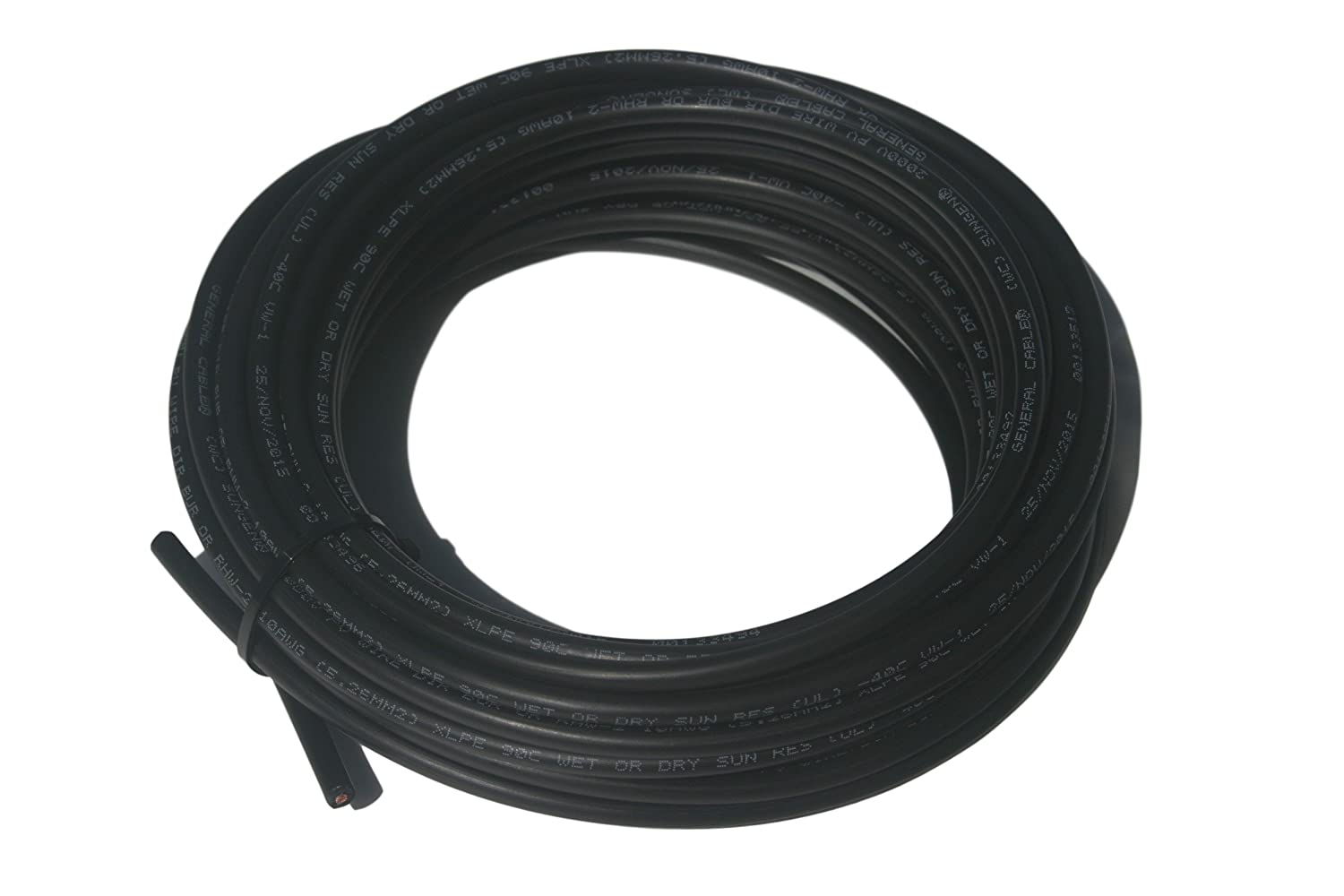 Amazon.com: 10awg Single Conductor Solar Panel Wire PV Cable 10FT UV ...