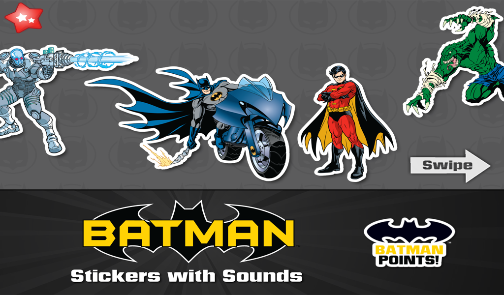 Batman: Stickers with Sounds (Kindle Tablet Edition)