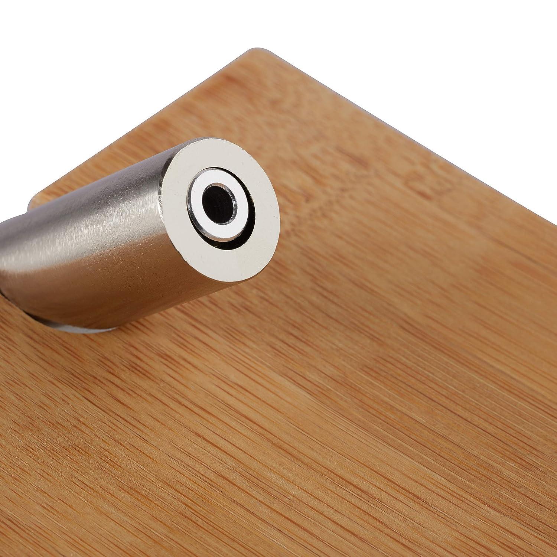 Klorollenhalter HxB 16x16,5 cm Relaxdays Toilettenpapierhalter aus Bambus Klopapierhalter f/ürs Bad natur Wandmontage