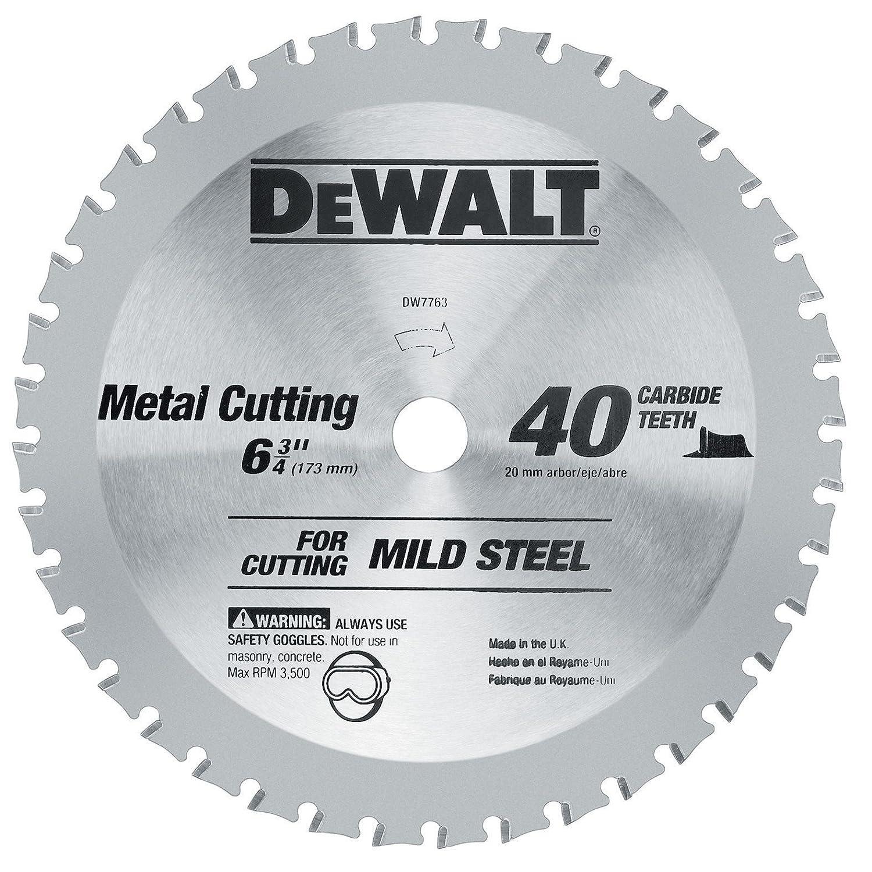 DEWALT DWA7763 40 Teeth Ferrous Metal Cutting 20mm Arbor 6 3 4 Inch