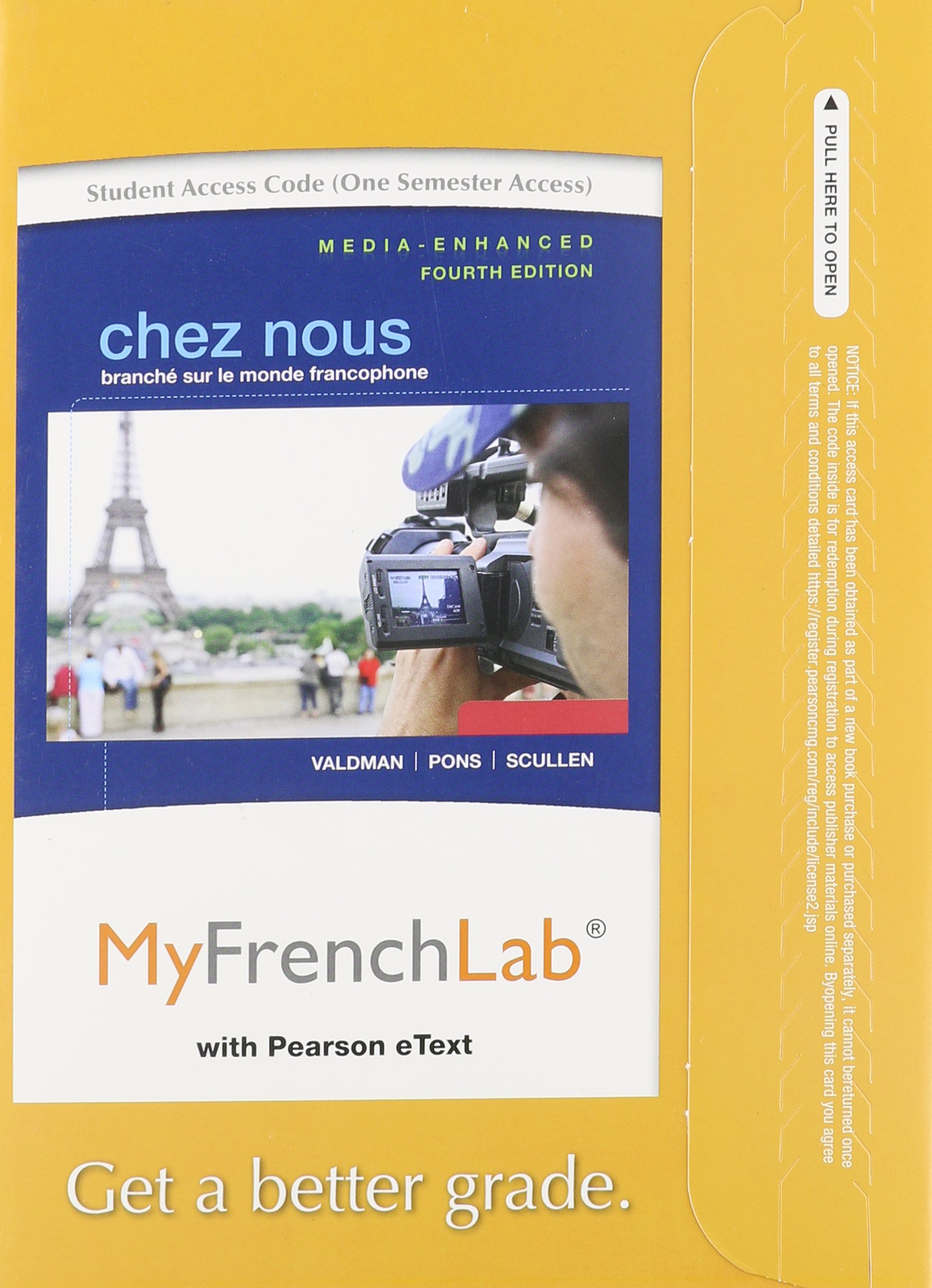 Buy MyFrenchLab with Pearson eText -- Access Card -- for Chez nous: Branché  sur le monde francophone, Media-Enhanced Version (one semester access) Book  ...