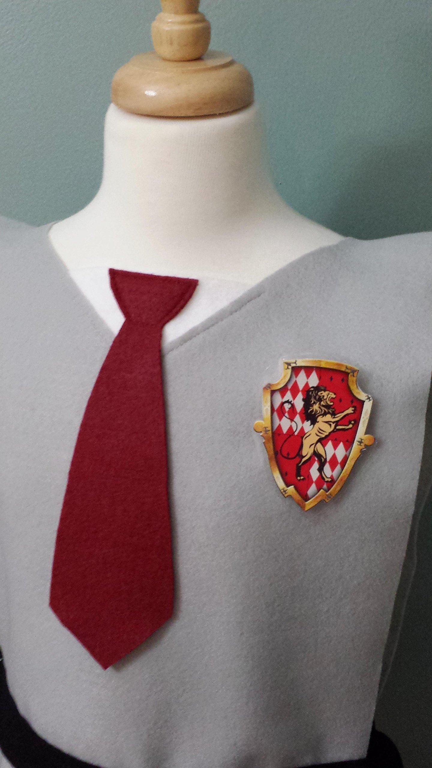 Kids Gryffindor Costume Tunic - Perfect for under your robe! (Harry Potter/Hermione/Hogwarts) - Baby/Toddler/Kids/Teens/Adult Sizes