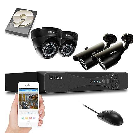 KARE 4 ch 960 hours 4 1200TVL CCTV DVR sistema con cámaras de seguridad al aire