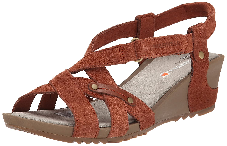 Merrell Women's Revalli Cross Sandal B00KZI0PES 11 B(M) US|Tortoise Shell