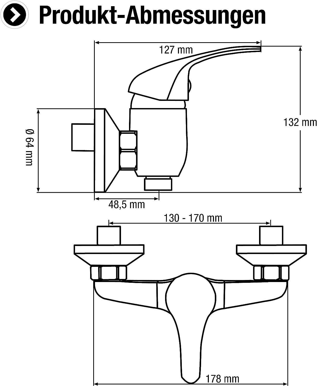 CON:P SA852 Monomando para ducha