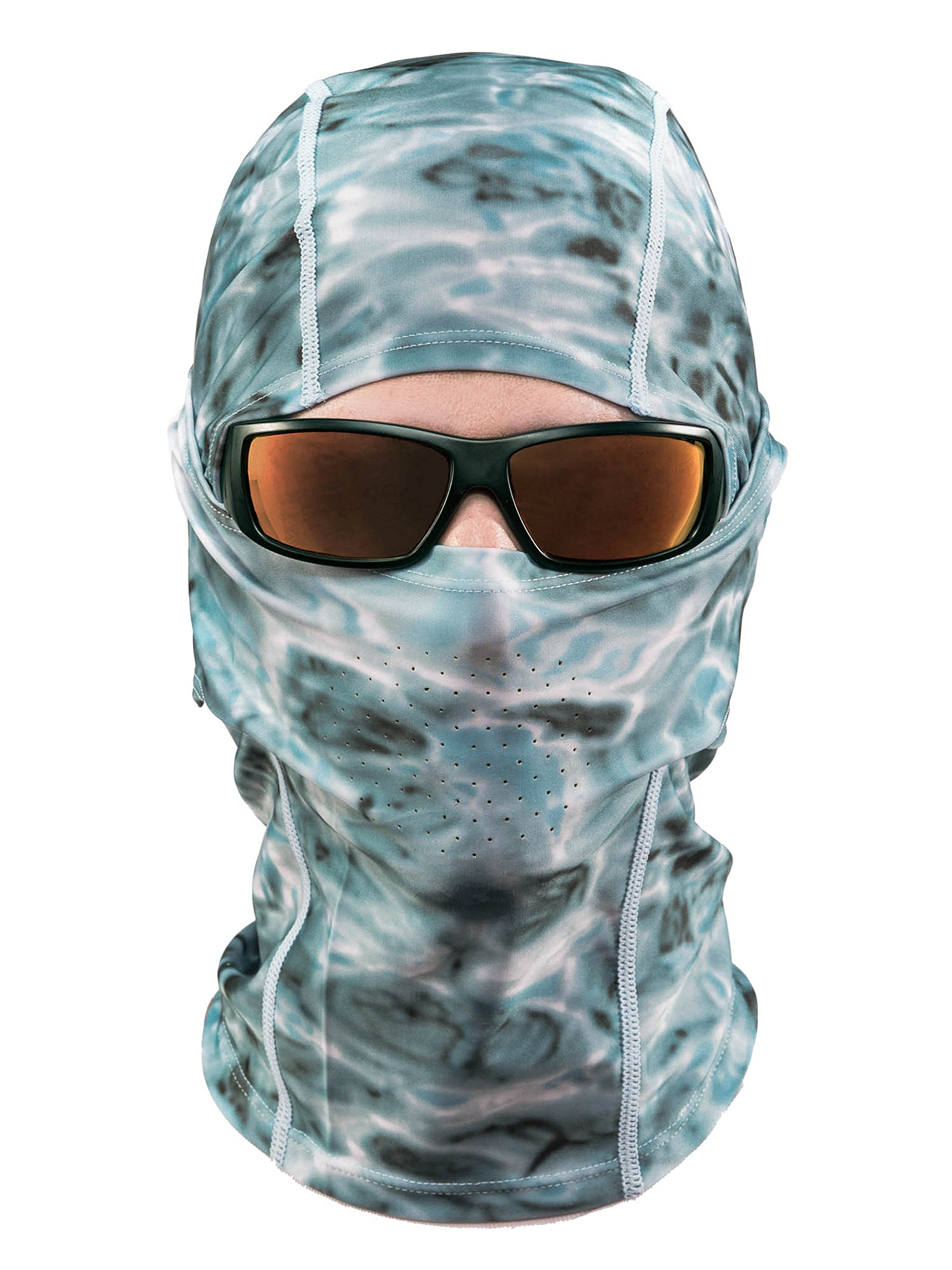 Aqua Design: Cool Weather Mens Face Mask UPF50+ Sun Wind Helmet Liner Balaclava: Aqua Sky by Aqua Design (Image #2)