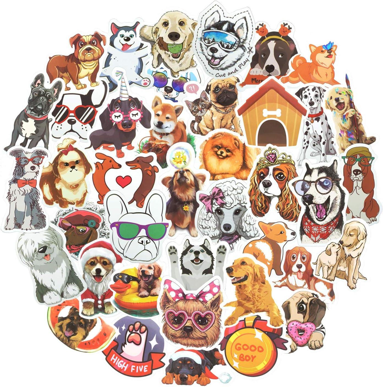 80pcs Waterproof Cute Dog Stickers for Laptop Water Bottle Luggage Guitar Vinyl Sticker Good Gift