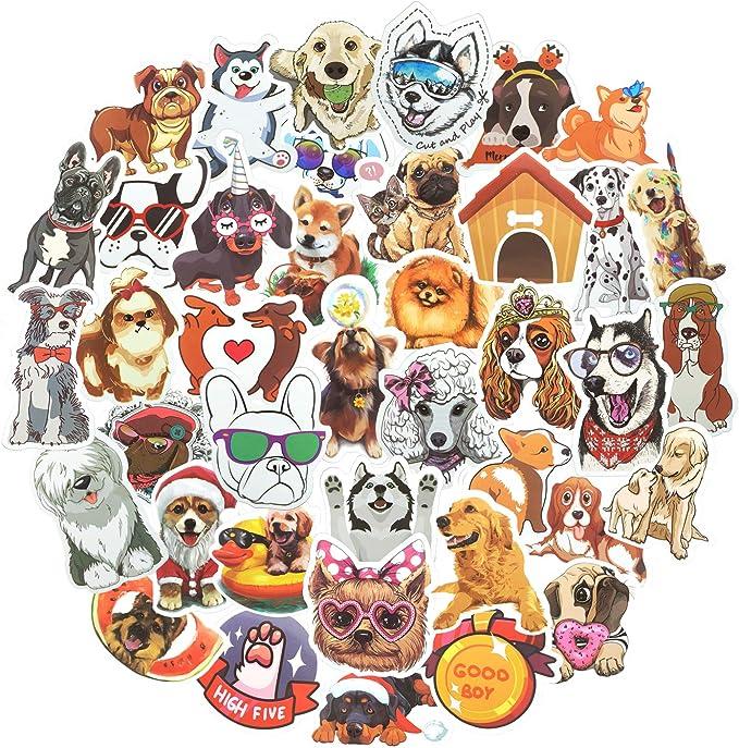 Waterproof Cute Dog Stickers
