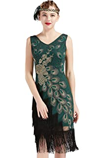 Flapper Kleid Artideco Ärmel Gatsby Kurzem 1920s Damen Mit sBtQdhCrx