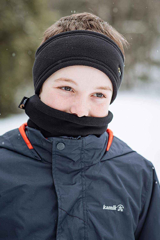 LUPA Kids Canadian Handmade Unisex Double-Layer Micro Fleece Neck Warmer