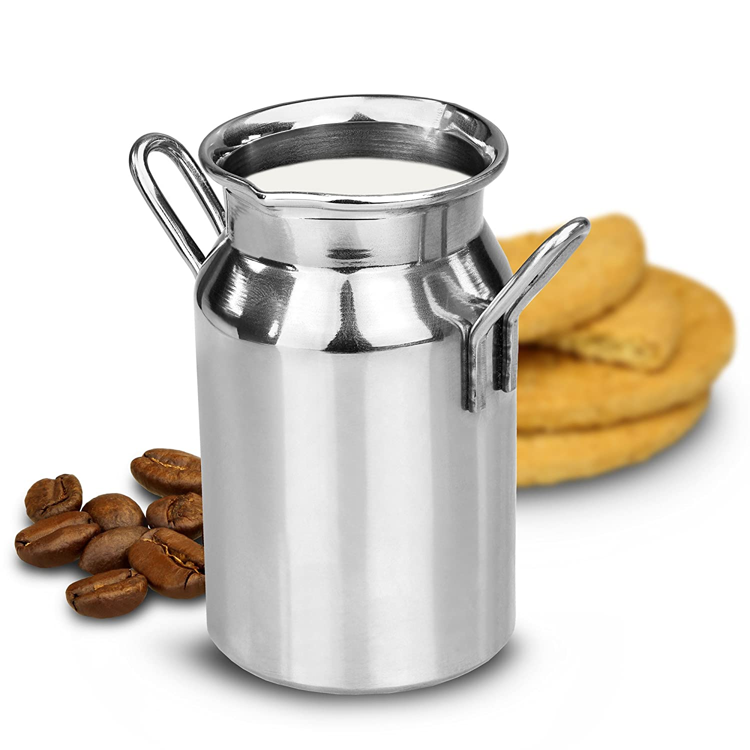 drinkstuff Stainless Steel Mini Milk Churn 4.75oz / 135ml - Novelty Cream Jug for Tea & Coffee Service