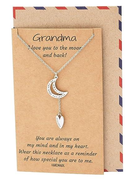 Quan joyería mi Abuela Collar, Regalo para Grandma, Regalos ...