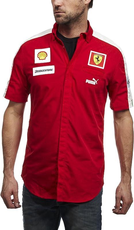 Puma SF TEAM SHIRT Rojo Hombre Camisa Ferrari: Amazon.es: Deportes ...