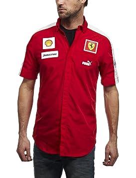 Puma SF TEAM SHIRT Rojo Hombre Camisa Ferrari  Amazon.es  Deportes y ... 8e3c6fead75