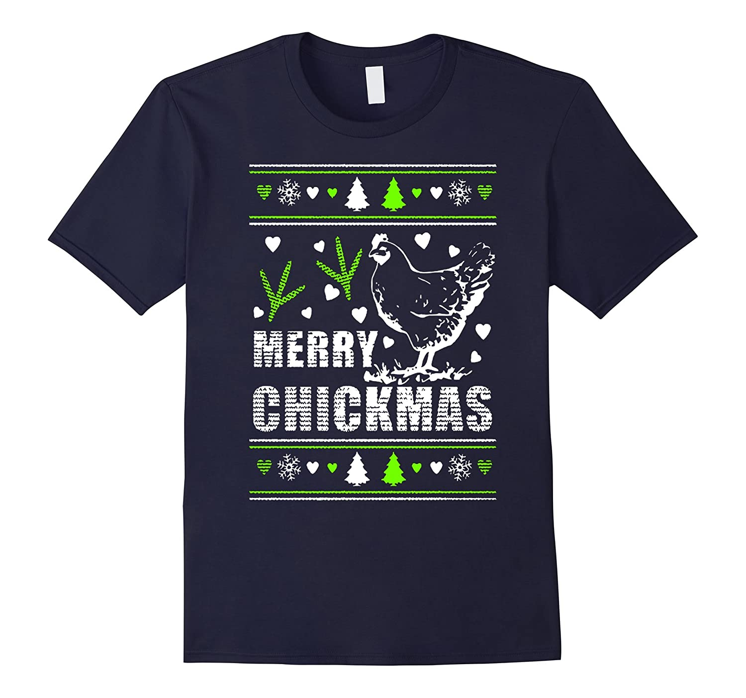 CHICKEN MERRY CHRISTMAS T-SHIRT-Art