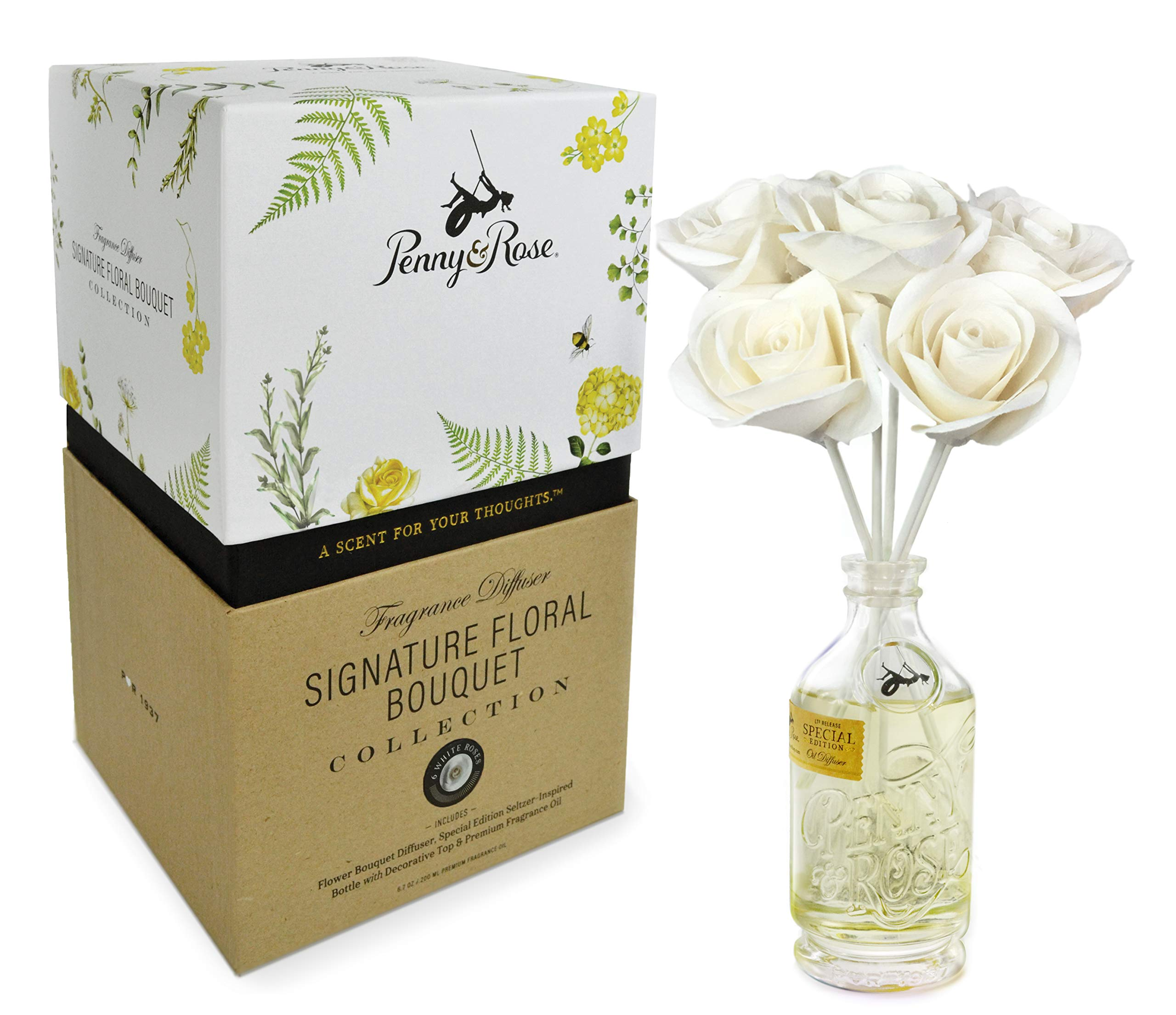 Penny & Rose White Rose Floral Diffuser | Summertime Spirits Oil Scent