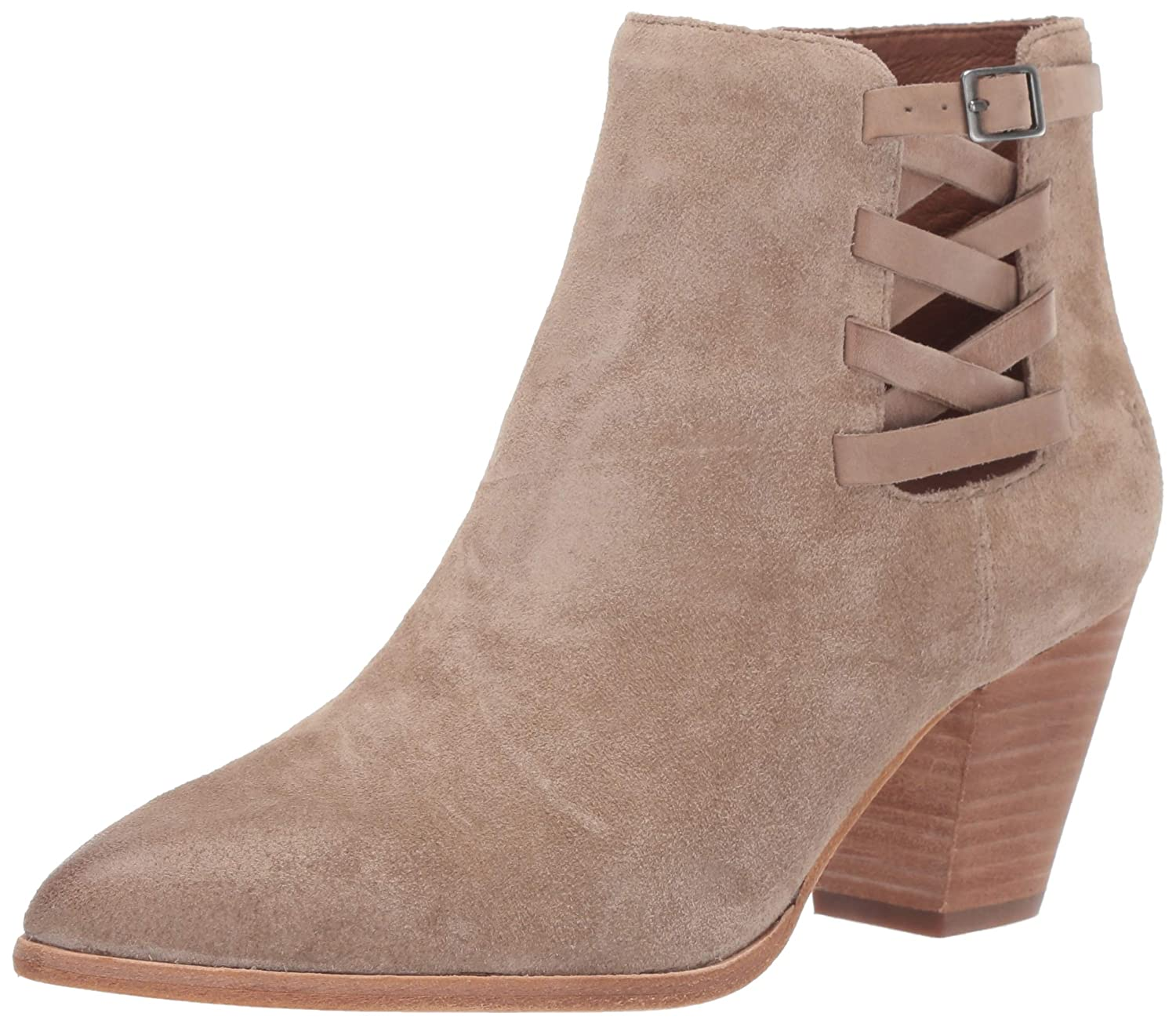 Beige Frye Womens Reed Strappy Bootie Ankle Boot