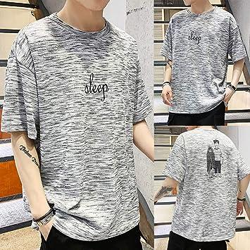 Camisa para Hombre Camiseta de Manga Corta Suelta Hombre Moda Impreso Camiseta de Verano para Hombre Camisa Negra Crop Top Camisas Hombre Camisas Manga Corta Hombre Camisa Verde Hombre Jodier: Amazon.es: Deportes