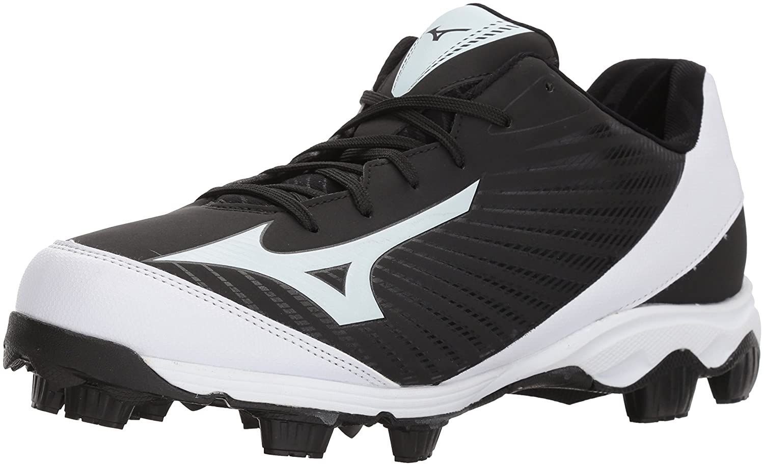 Mizuno (MIZD9) メンズ 9-Spike Advanced Franchise 9 Molded Baseball Cleat Low B072JTNFJV 7 D US|ブラック/ホワイト ブラック/ホワイト 7 D US
