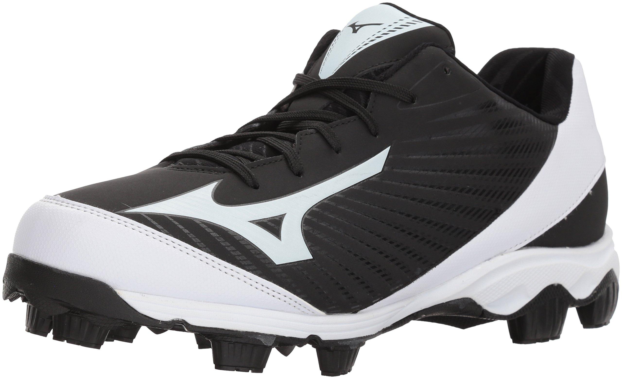 Mizuno (MIZD9) Men's 9-Spike Advanced Franchise 9 Molded Cleat-Low Baseball Shoe, Black/White, 12 D US